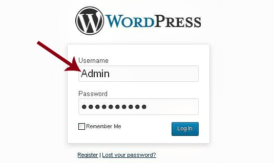 change wordpress admin name