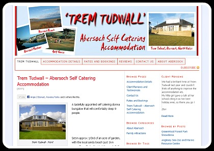 Abersoch Self Catering - Business Website Services