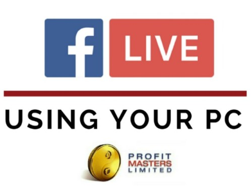 Facebook Live Broadcasting Using Your PC
