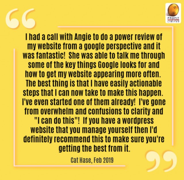Client Testimonial - Website Power Review