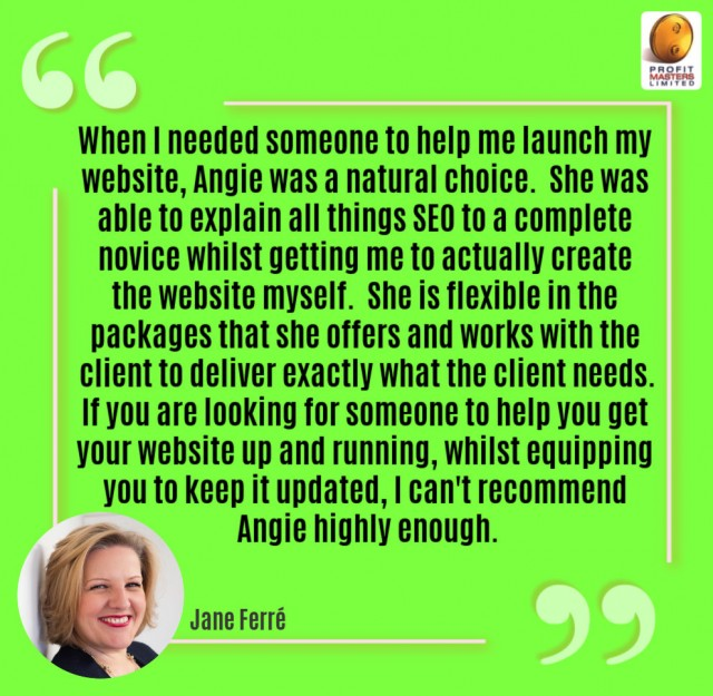 Client Testimonial - SEO & Website Build Support